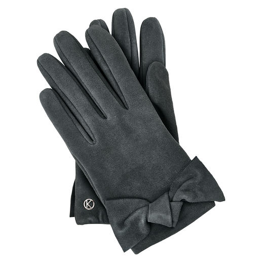 Otto Kessler Goat Suede Glove - Exceptionally feminine for leather gloves. Delightfully affordable for the quality. Handmade by Otto Kessler,