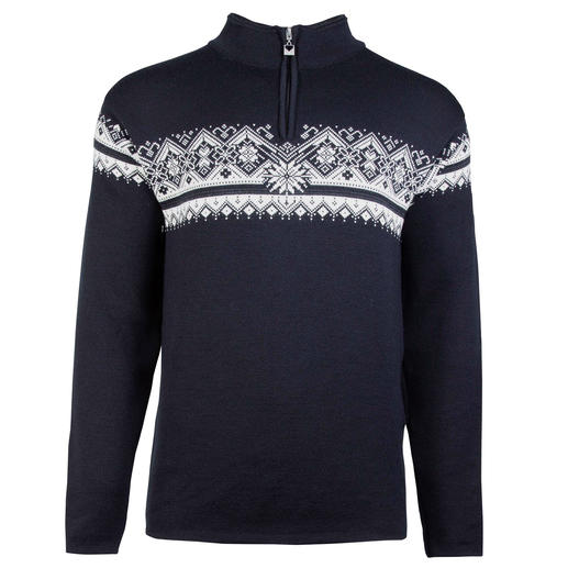 Dale of Norway Men's Zip Neck Pullover Not just any Norwegian pullover. The original zip neck pullover of the Norwegian national team.