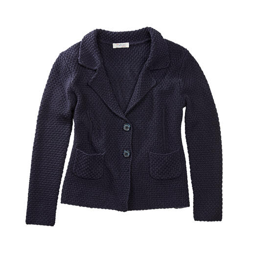 Carbery Brickwork Knitted Blazer More shape-retaining than most: The knitted blazer made of supple fabric with brickwork textured pattern.