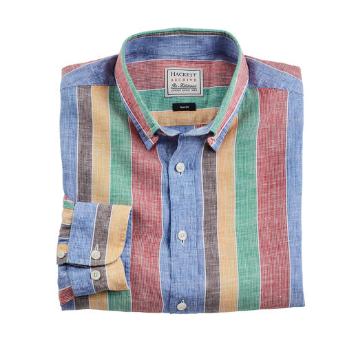 Hackett London Striped Shirt - Designed in the 70s. Now more fashionable than ever. Only Hackett London can make stripes look so beautiful.