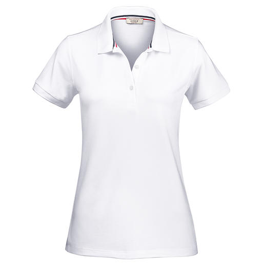Aigle Polo Shirt 37.5®, White - Dries five times faster. Optimal body climate. Reliable UV protection. By Aigle, France.