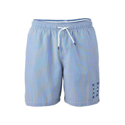 Hackett London Seersucker Swimming Shorts - In the water, they do not stick to your skin. In the air, they are quick to dry again.