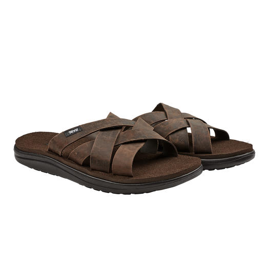 Teva® Waterproof Leather Sandals Smart enough for the promenade. Hard-wearing enough for the beach and swimming pool. By Teva®.