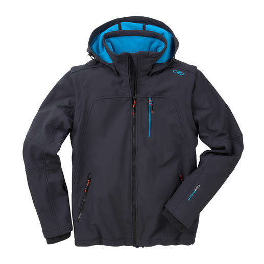 Soft Shell Jacket for Men - Slim, lightweight, yet warm. Jacket made of Soft Shell, with WindProtect® by CMP.