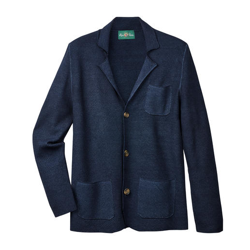 Alan Paine Piqué Knitted Sports Jacket Lightweight wool + piqué knit: Airy and yet shape-retaining. By Alan Paine.