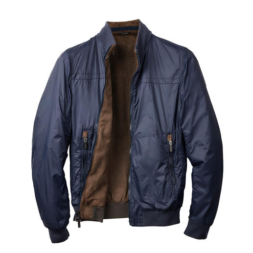 Gimo's Reversible Kid Suede Leather Jacket - Reversible leather jacket with resilient nylon side. By leather specialists Gimo's, Italy.