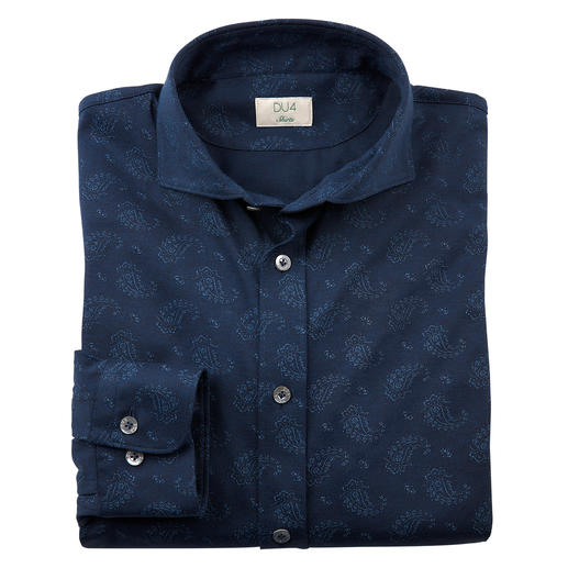 Dorani Paisley Jersey Shirt Smooth, dark and with a subtle pattern: This is how elegant a jersey shirt can be.