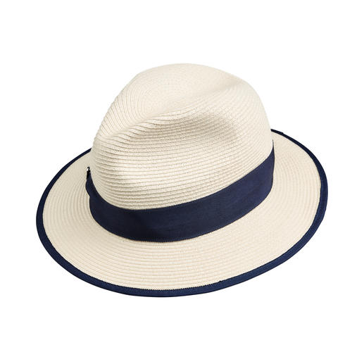 Stylish and yet resilient. Stylish and yet resilient. The travel fedora made of crushable weave. By Loevenich.