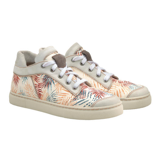 Chaaya Leather Trainer Palm Print - Stylish leather trainers with a feel-good guarantee – and far beyond the mainstream when it comes to quality.