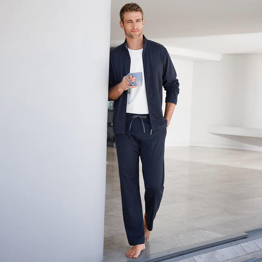 Novila Loungewear Suit Fit for training. Classy for the spontaneous visit. Comfy on the couch. One suit. Very comfortable.