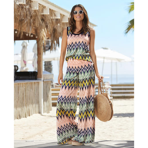 M Missoni Zigzag Swimsuit, Top or Trousers Deluxe beachwear. On-trend style and colours. And unmistakably M Missoni.