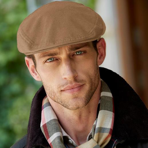 Herman rain flat cap waxed cotton