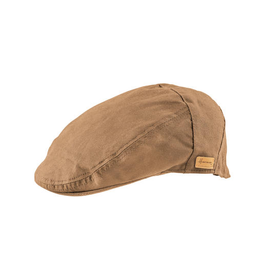 Herman rain flat cap waxed cotton Pure cotton and still absolutely weatherproof. Water and windproof due to special micro-wax, but breathable.