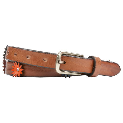 Fausto Colato Floral Leather Belt Today a must-have, tomorrow a special one-of-a-kind: The hand made floral leather belt.