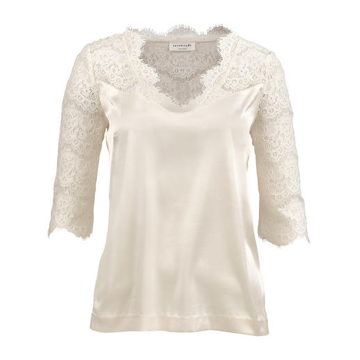 Rosemunde Copenhagen Lace Blouse Scandinavian design by Rosemunde Copenhagen: Comfortable, casual and elegant.
