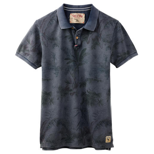 Take a way Men's Polo Shirt Tasteful all-over prints. Beautiful worn effects. Lovingly hand-embroidered details. By Take a way.