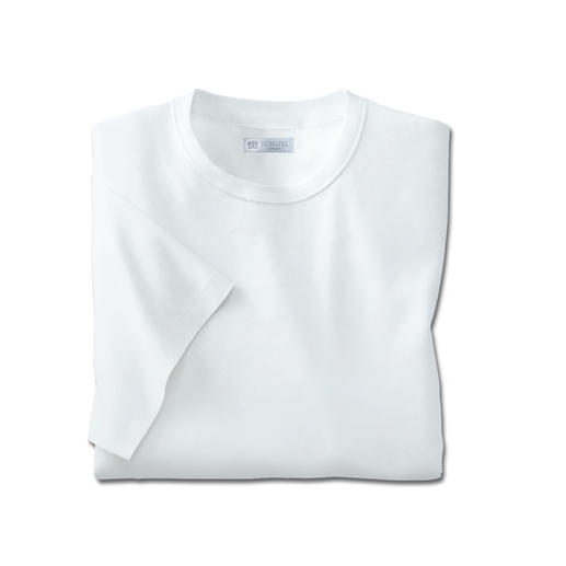 Short sleeves, Crew-Neck Shirt, White