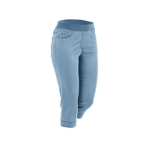 Raphaela by Brax Capri Comfort Jeggings Finally: Comfortable jeggings that can also be worn with a cropped top. From Raphaela by Brax.
