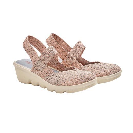 bernie mev. Plaited Wedges Fashionable summer shoes that cannot get any more comfortable, lightweight and airy. By bernie mev.