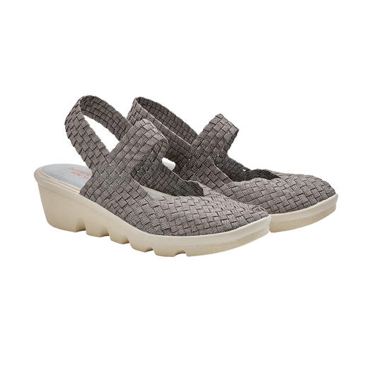 """The fashion sensation from the USA: Plaited wedges by bernie mev. from New York, the """"Master of woven footwear"""". Fashionable summer shoes that cannot get any more comfortable, lightweight and airy. By bernie mev."""