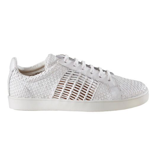 Allan K Braided Leather Trainers