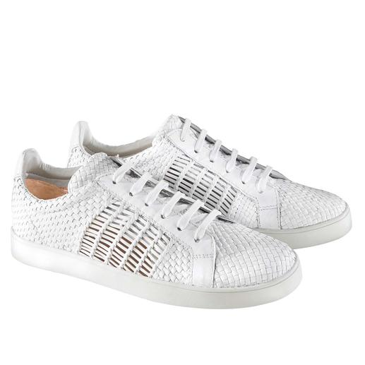 Allan K Braided Leather Trainers - Classic white trainers: More interesting and airy than most in braided leather. By Allan K.