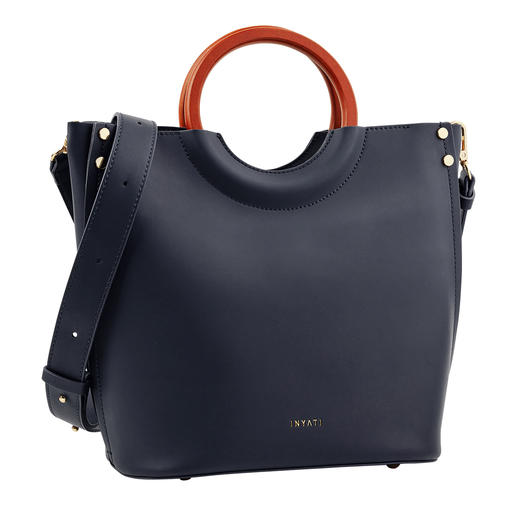 Inyati Navy Handbag The elegant, puristic handbag by Inyati. Design award contender. And still delightfully affordable.