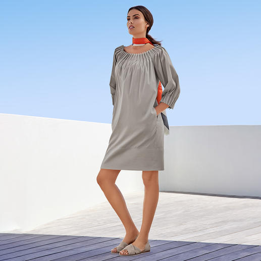 The Pure Barbara Schwarzer Poplin Dress - Neither boring nor flamboyant: The cotton poplin dress by The Pure Barbara Schwarzer is fashionably perfect.