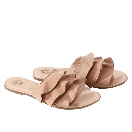 Apple of Eden flounced flats Fashionable to a tee. More comfortable than most. The flounced flats from Apple of Eden.