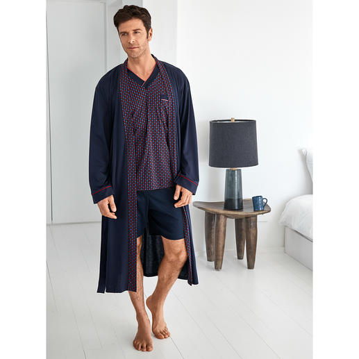 Favourite Pyjamas No.28 or Favourite Bathrobe Pure cotton, meticulously crafted, made in Germany.