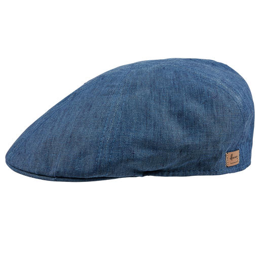 Flat Linen Cap Keep a cool head thanks to pure, unlined linen. Flat cap by Herman Headwear.