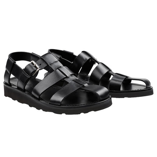 Piaceri Sandals, Black Stylish, top-quality and therefore can even be worn with a suit. By Enrico Piaceri.