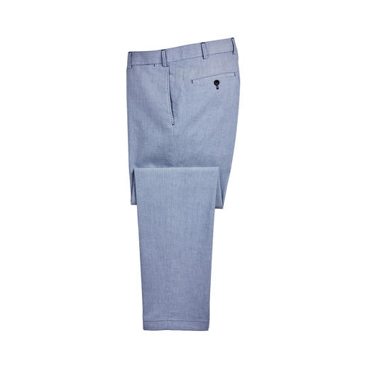 Hiltl Oxford Trousers Oxford weave: A popular classic as a shirt. Unfortunately, hard to find as trousers. Pleasantly airy, soft.