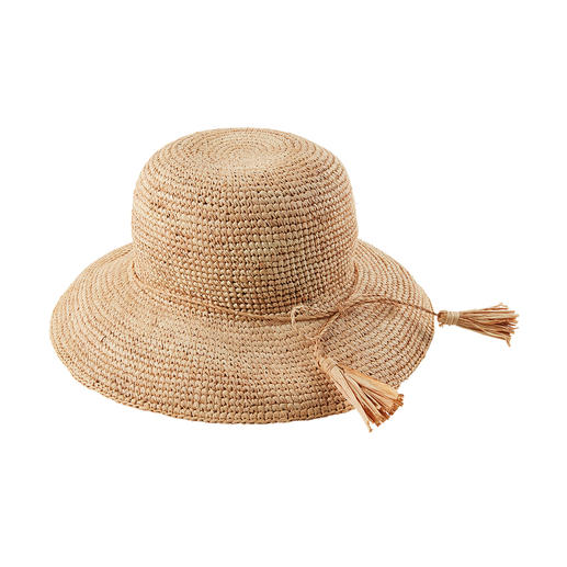 Loevenich Raffia Hat Soft and flexible instead of stiff and bulky: The unbreakable straw hat made of raffia bast.