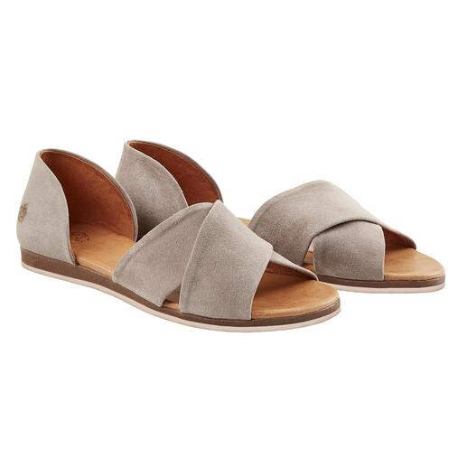 Apple of Eden Cross Strap Sandals, Grey A fashion essential. More elegant than most. At a very fair price. From Apple of Eden.