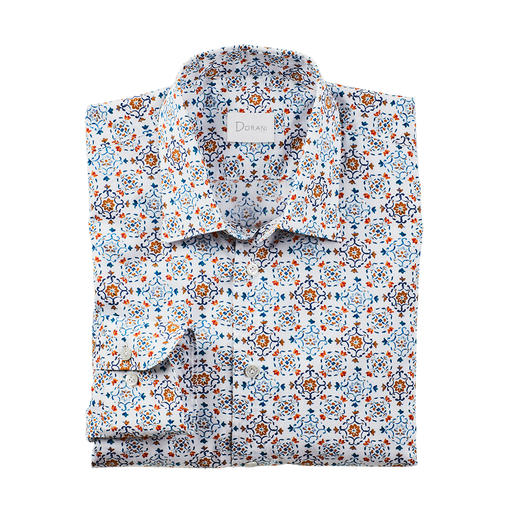 Dorani Shirt With Tile Pattern Fashionable tile pattern with a rare subtlety: In soft colours and discreet design. By Dorani.