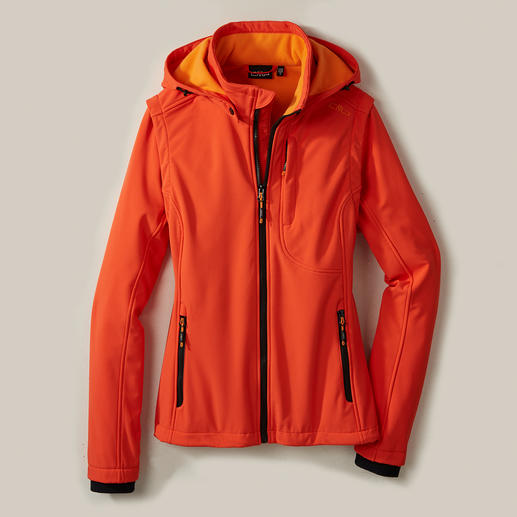 Soft Shell Jacket for Women Jacket made of Soft Shell, with WindProtect® by CMP. Slim, lightweight, yet warm.
