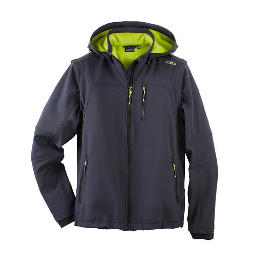 Soft Shell Jacket for Men Slim, lightweight, yet warm. Jacket made of Soft Shell, with WindProtect® by CMP.