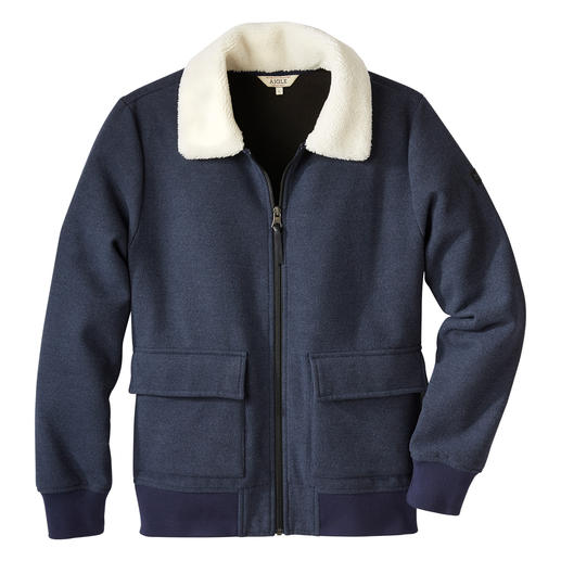 Aigle Men's Fleece Bomber Jacket Wonderfully warm and soft – yet pleasantly lightweight. By Aigle/France.