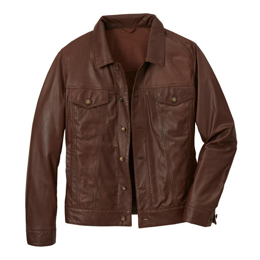 "Reindeer Leather ""Denim"" Jacket - Jacket made from the world's thinnest reindeer nappa leather."