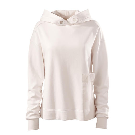 Strenesse Hooded Sweater Chic sports couture instead of an over-casual street style: The hooded sweater by Strenesse.