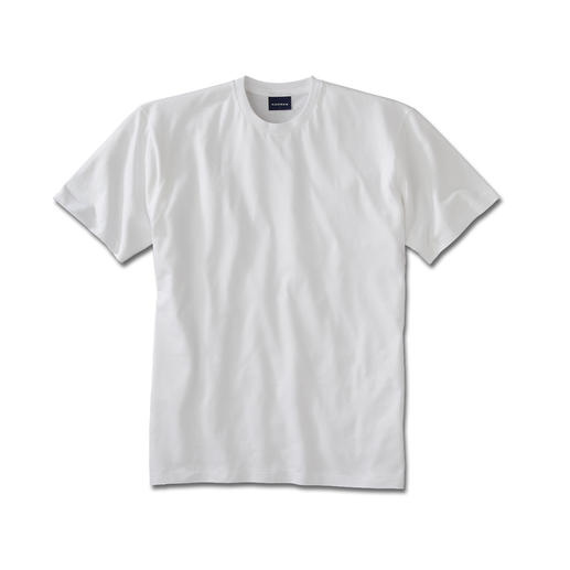 Your favourite T-shirt, in South American cotton – 5.5 oz/sqyd. A rare garment, by Ragman. Extremely hardwearing, yet soft, light and airy. Opaque, yet fine enough to wear under a shirt.
