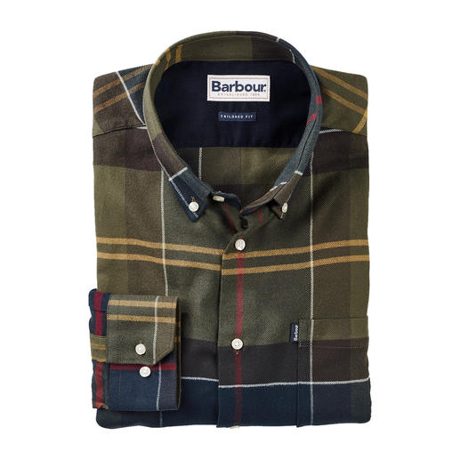 Barbour Light Flannel Tartan Shirt Signature Barbour tartan on incomparably lightweight flannel.
