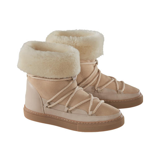 Inuikii Sheepskin Slimline Boots 100% fashionable. 100% suited to winter. The sheepskin boots by Inuikii.