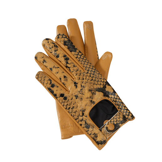 TWINSET Python Gloves In on-trend driving style and with python-skin look. TWINSET gloves with practical touchscreen control.