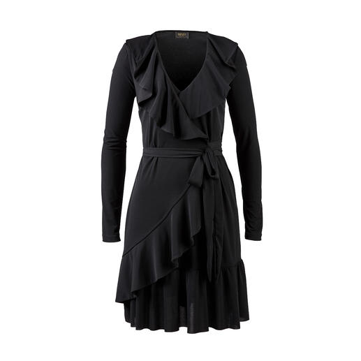 Liu Jo Jersey Ruffled Dress - Feminine ruffles. Seductive wrap look. Uncomplicated jersey. From Liu Jo, Italy.