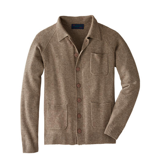 Carbery Fine Cardigan - Fine yak wool, cashmere and Irish knitting make this cardigan very special. By Carbery from Clonakilty