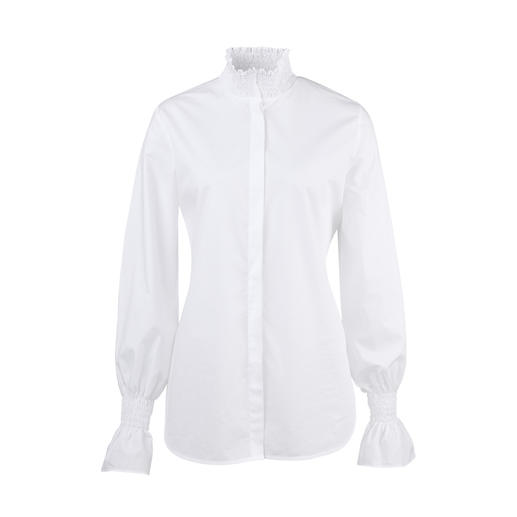 aybi Basic Blouse Classically elegant, but anything but boring. The fashionable reinterpretation of the white basic blouse.