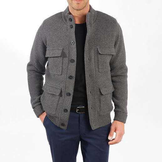 Alan Paine Knitted Outdoor Cardigan