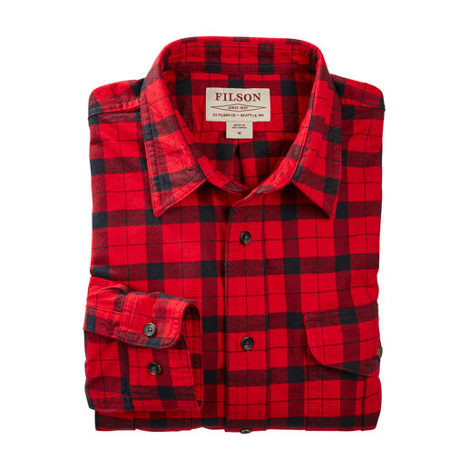 Filson Alaska Guide Shirt, Red/Black Cult status in the USA for a very long time – difficult to find in this country. By Filson.